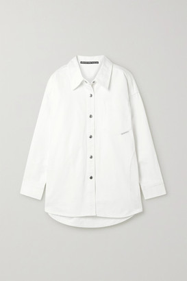 Alexander Wang Oversized Denim Shirt - White