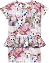 Molo Short Sleeve Lovely Lhama Christina Dress