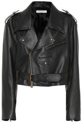 Alessandra Rich Leather biker jacket