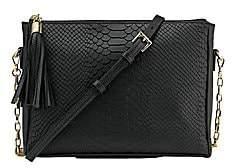 GiGi New York Women's Hailey Chain Python-Embossed Leather Crossbody Bag