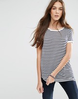 Tommy Hilfiger Striped Crepe T-Shirt
