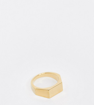 Orelia chunky ring in gold plated