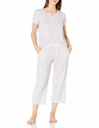 Karen Neuburger Women's Short-Sleeve Girlfriend Crop Pajama Set PJ