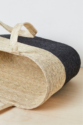 French Connenction Summer Block Color Straw Tote