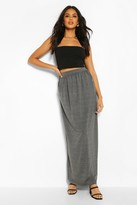 Boohoo Lizbeth Pocket Front Jersey Maxi Skirt
