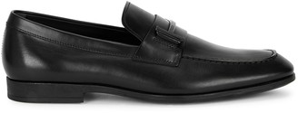 Tod's Singola black leather loafers