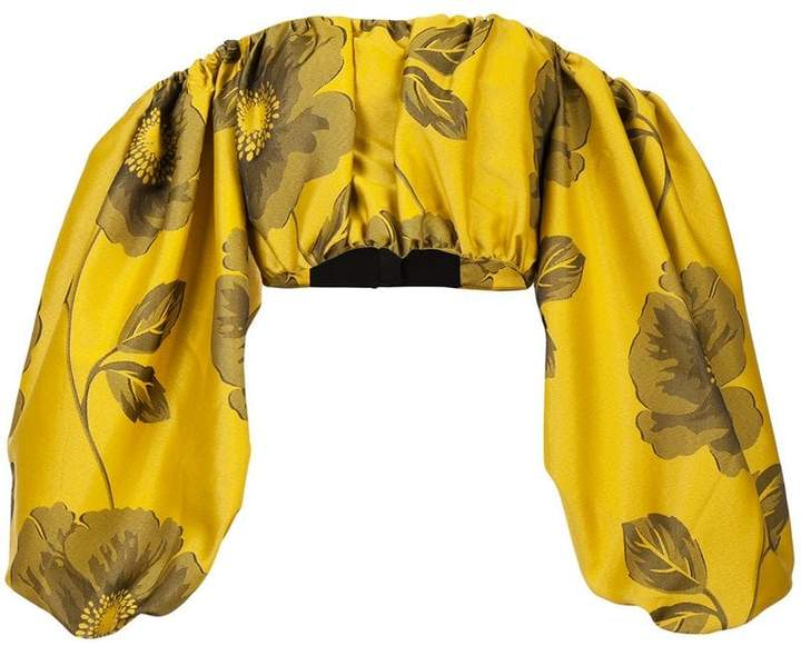 Marques Almeida Marques'almeida floral off-shoulder top