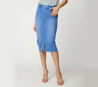 NYDJ Midi Skirt with_Braided Belt Loops - Edgewater