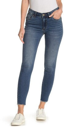 KUT from the Kloth Fray Hem Ankle Crop Skinny Jeans