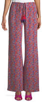 Figue Ipanema Fridas Wallpaper Floral-Print Wide-Leg Silk Pants