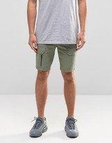 Asos Slim Cargo Shorts with Zips In Green