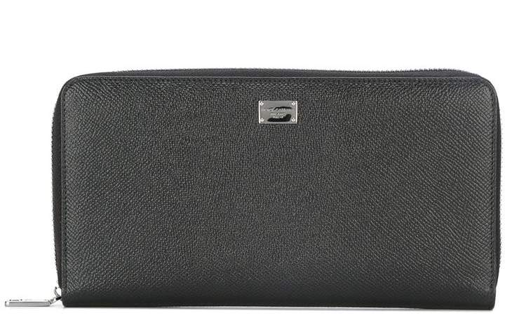 Dolce & Gabbana Dauphine leather long wallet