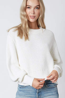Cotton Candy Ribbed Knit Sweater