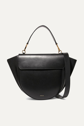 Wandler Hortensia Large Leather Shoulder Bag - Black