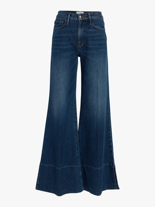 Frame Palazzo Panel Slit Jeans