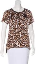 MICHAEL Michael Kors Leopard Print Short Sleeve Top