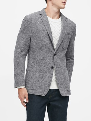 Banana Republic Slim Wool-Blend Knit Blazer