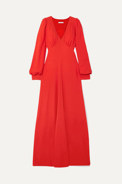 Bella Freud Nova Crepe Maxi Dress - Red
