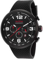 Redline Red Line 50057-BB-01-RDA Men's APEX12 Chronograph Black Silicone and Dial Red
