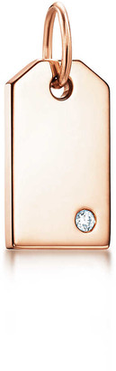 Tiffany & Co. Charms tag in 18k rose gold with a diamond, mini