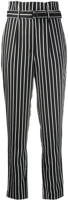 Calvin Klein Jeans Striped High-Waisted Trousers