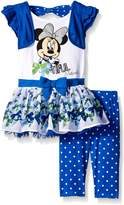 Disney Little Girls 2 Piece Bow-Tiful Minnie Top and Legging Set