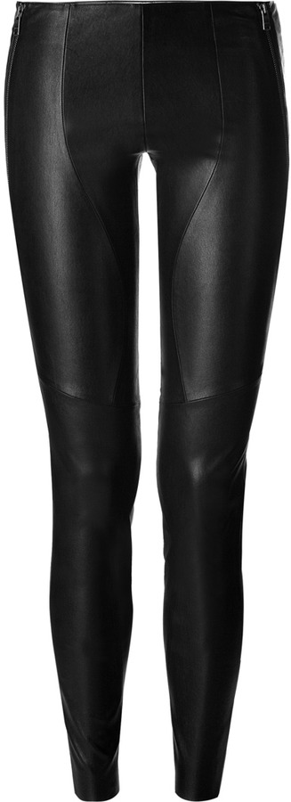 Jitrois Black Zip Stretch Leather Pants