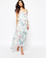 BOSS ORANGE Aglamy Maxi Dress in Watercolour Floral