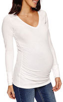 A.N.A a.n.a Long Sleeve V Neck T-Shirt-Maternity