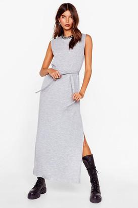 Nasty Gal Womens Tie Candy Belted Midi Dress - Grey