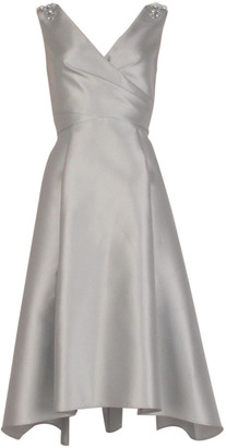 Adrianna Papell Mikado Tea Length Dress