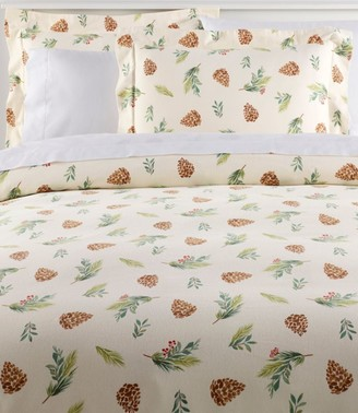 L.L. Bean Evergreen Flannel Comforter Cover Collection