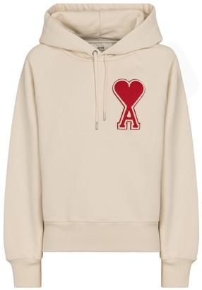 AMI Paris Exclusive to Mytheresa Ami de Cur cotton jersey hoodie