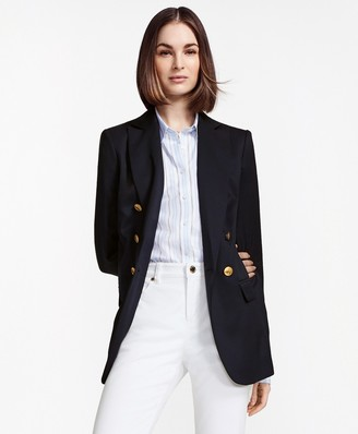 Brooks Brothers Double-Breasted Stretch Wool Blazer