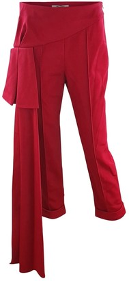 Hellessy Red Viscose Trousers