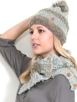 Simply Noelle Stripe Hat W/pom