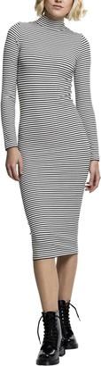 Urban Classics Women's Ladies Striped Turtleneck Dress