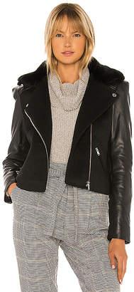 Generation Love Collins Faux Fur Moto Jacket