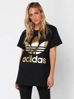 adidas New Womens Big Trefoil T Shirt In Black Tops & T Shirts Athletics