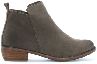 Df By Daniel Mayland Grey Suede Stacked Heel Ankle Boots