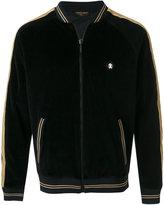 Roberto Cavalli contrast band velvet bomber jacket