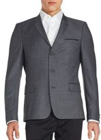 The Kooples Brushed Three-Button Wool Jacket
