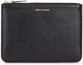 Comme Des Garçons Black Grained Leather Pouch