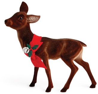 Harrods Flocked Deer Christmas Decoration