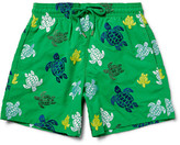 Vilebrequin Mistral Slim-fit Mid-length Embroidered Turtle Swim Shorts