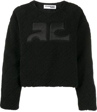 Courreges textured boxy-fit jumper
