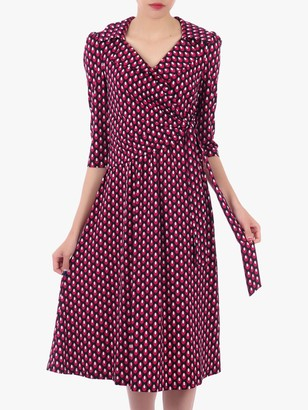 Jolie Moi Printed Jersey Shirt Midi Dress