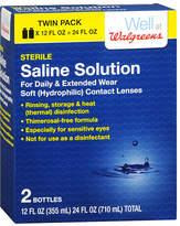 Walgreens Sterile Saline Solution 2 Pack