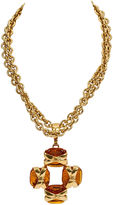 One Kings Lane Vintage Chanel Gripoix Cross Necklace, 1994