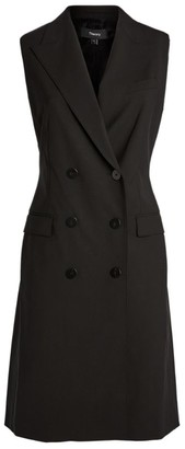 Theory Double-Breasted Tailored Dress